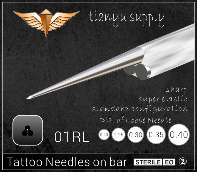 1-Round Liner Premade Sterilized Tattoo Needle on Bar