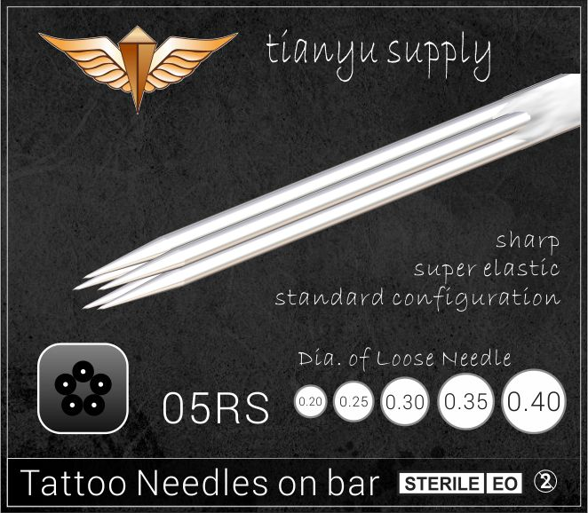 5-Round Shader Premade Sterilized Tattoo Needle on Bar