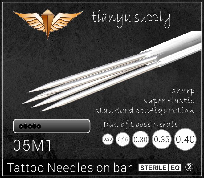 5-Magnum Premade Sterilized Tattoo Needle on Bar