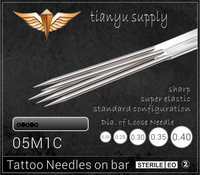 5-Curved Magnum Premade Sterilized Tattoo Needle on Bar