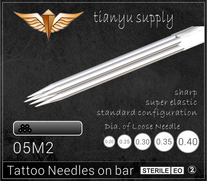 5-Stacked Magnum Premade Sterilized Tattoo Needle on Bar