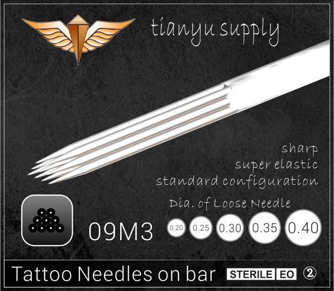 9-Triple Magnum Premade Sterilized Tattoo Needle on Bar